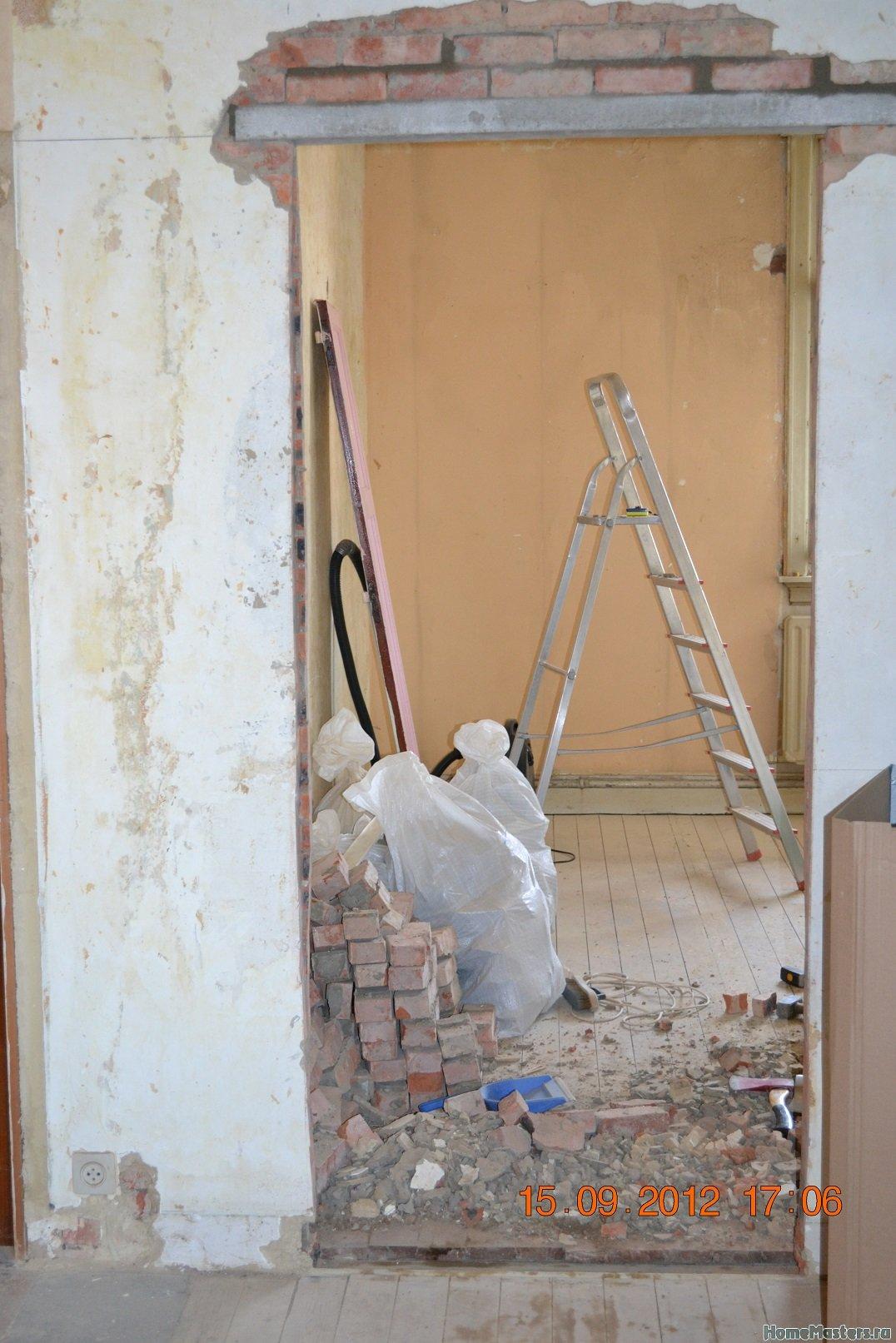 Ремонт спальни  1. Стены, пол, электрика. 010