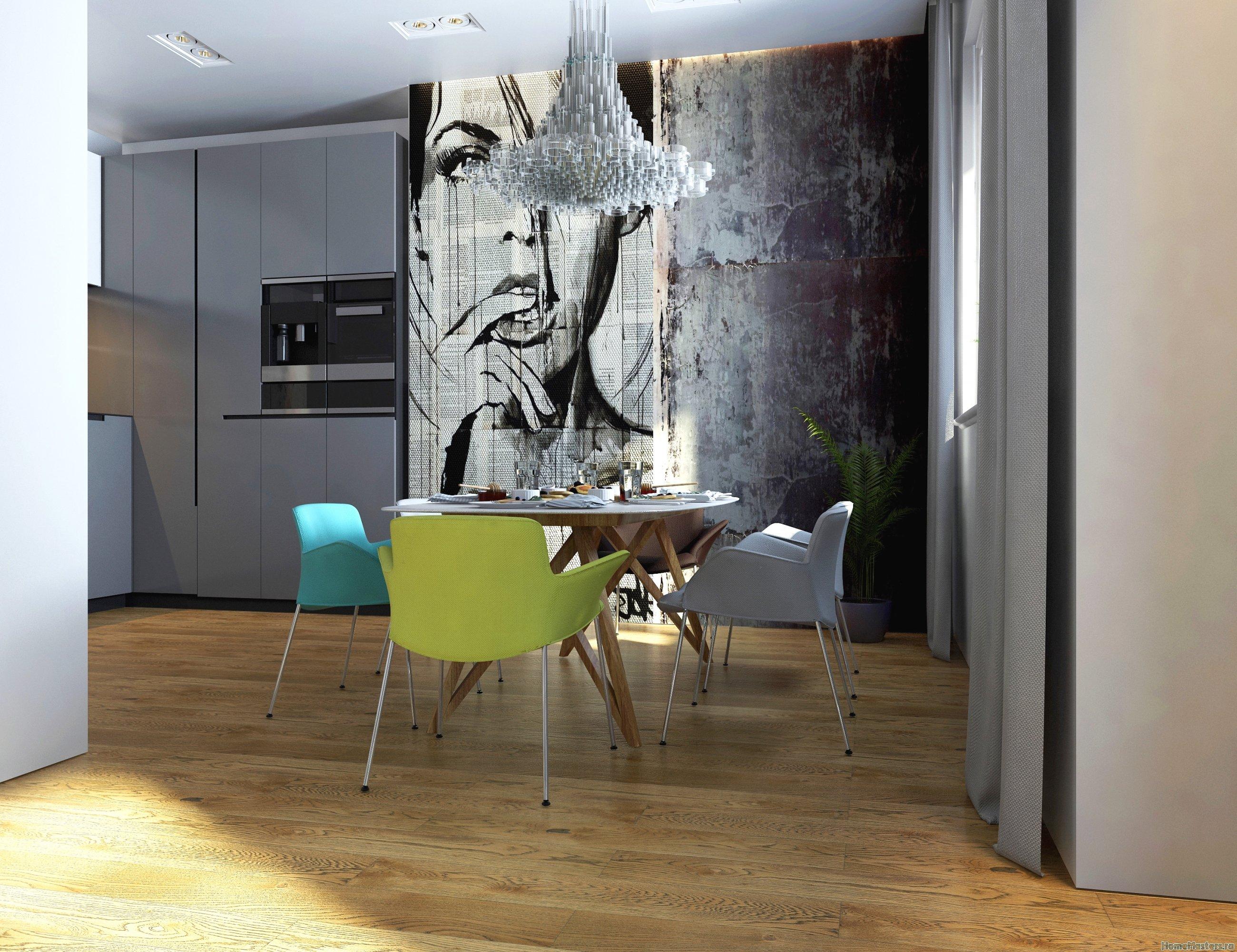 Дизайн кухни гостиной в загородном доме