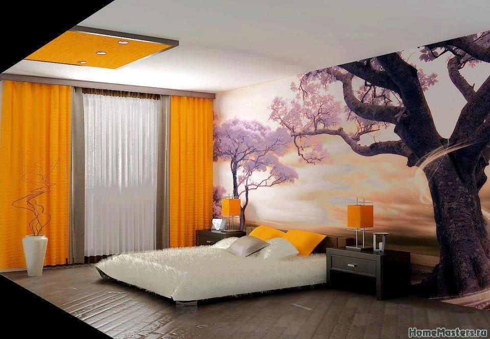 Cовременный японский дизайн спальни
