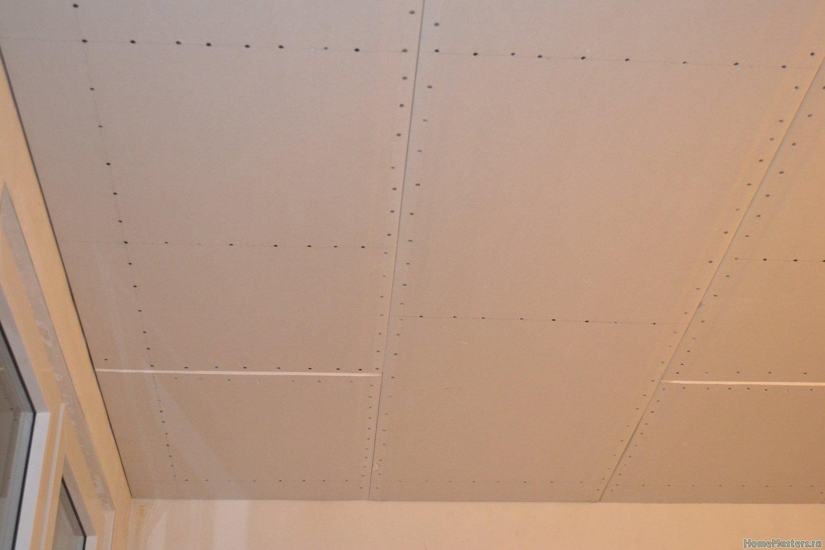 Ремонт спальни 1. Потолок 050