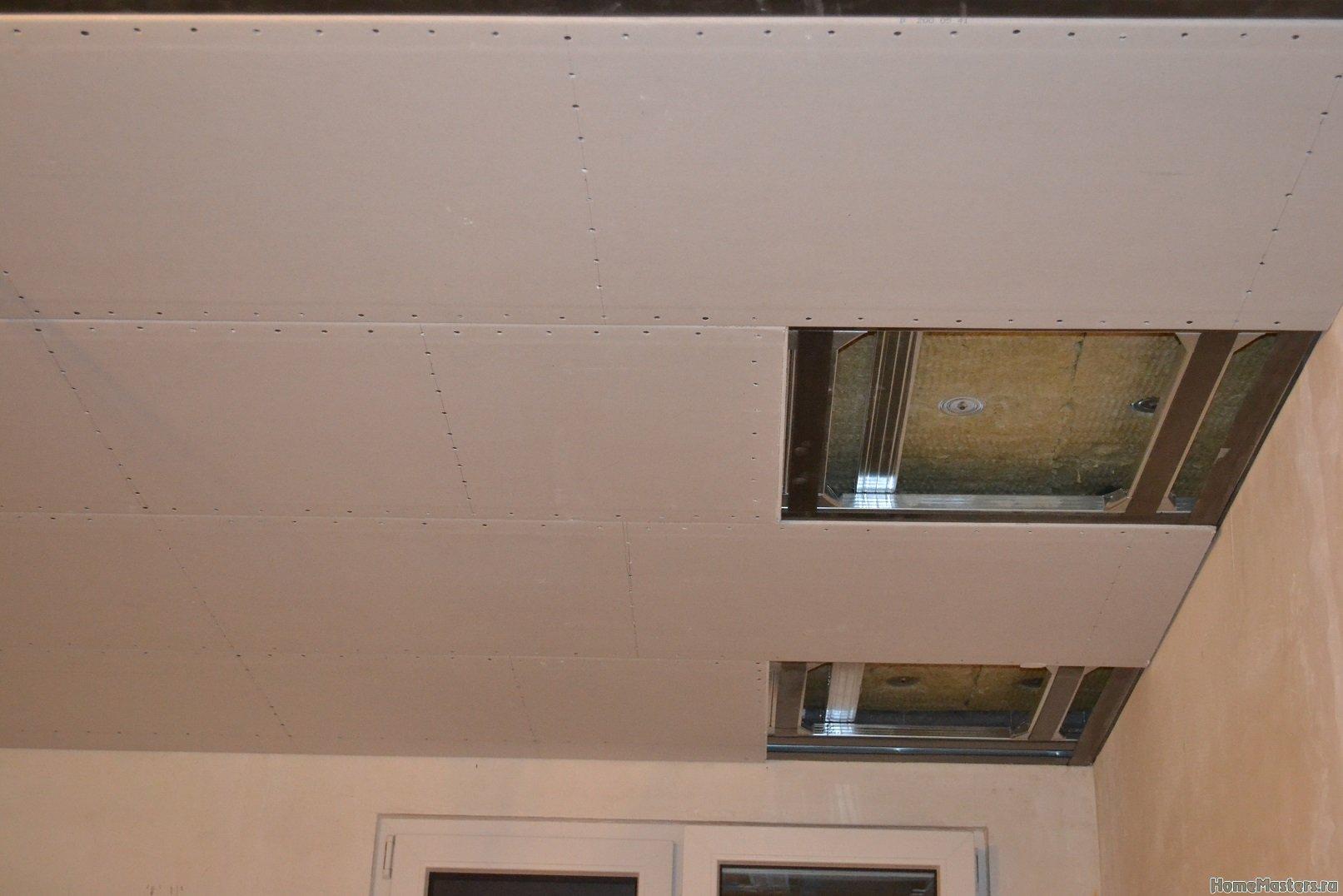Ремонт спальни 1. Потолок 036
