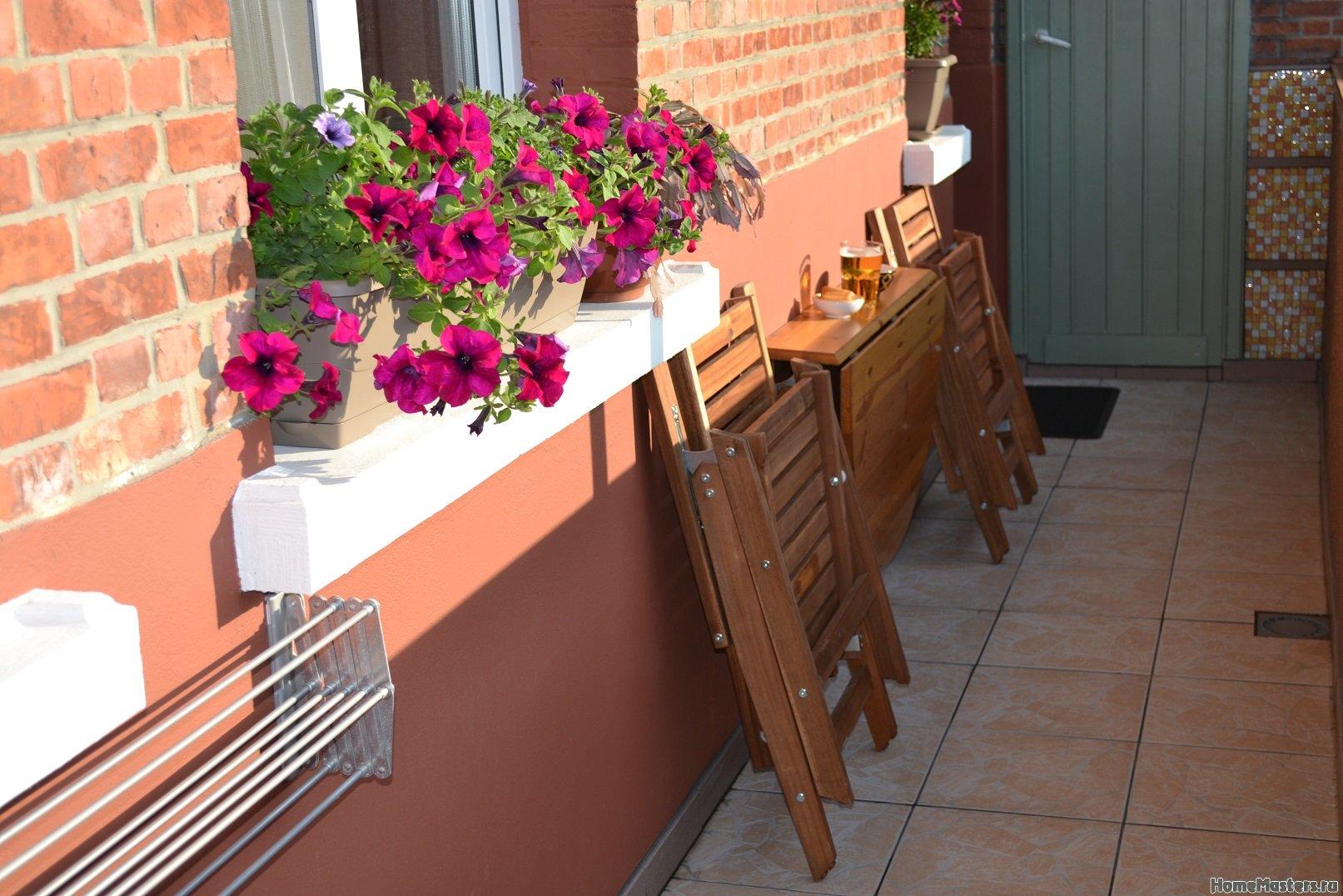 Ремонт балкона. Пол и стены. 051