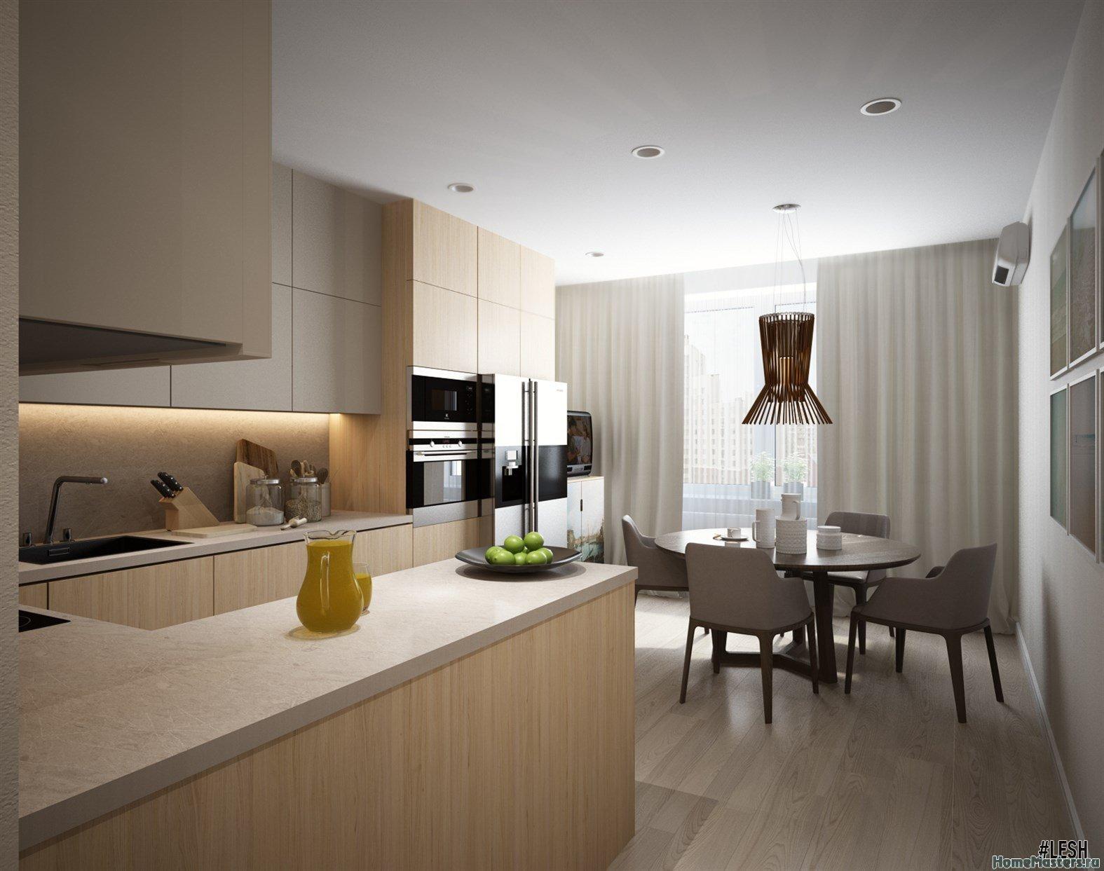 Современная светлая кухня | Tribuca 100 м.