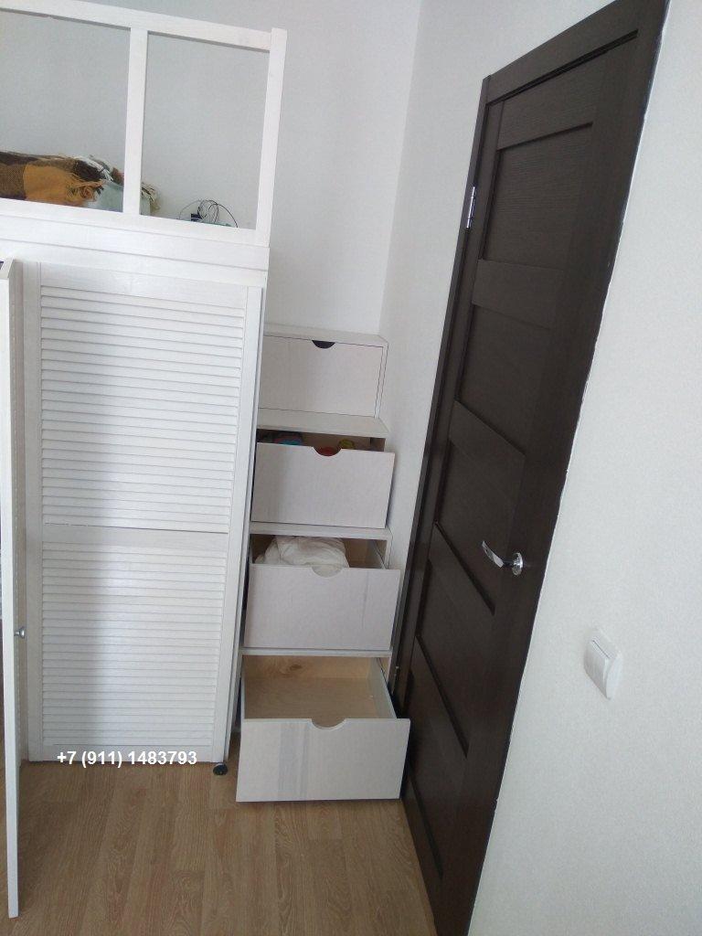 Шкаф-кровать Чердак-1250 лестница