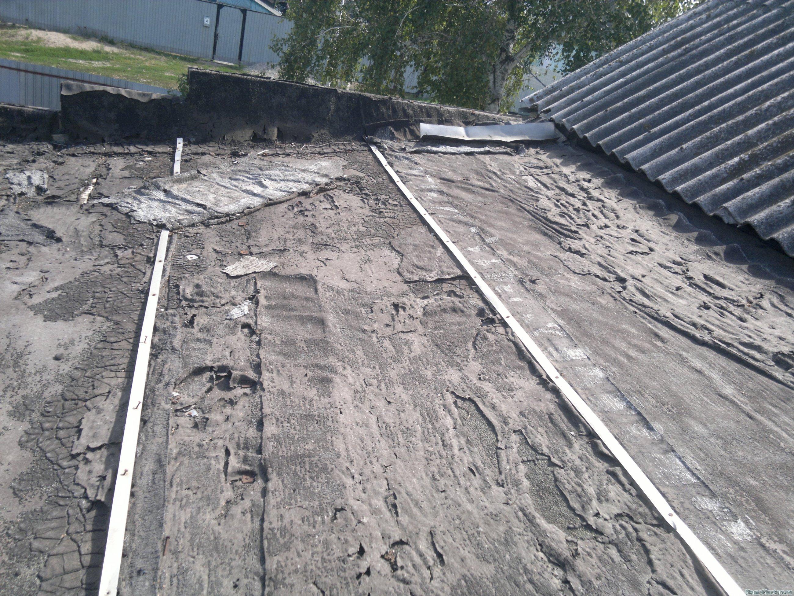 Крыша пристройки 1.