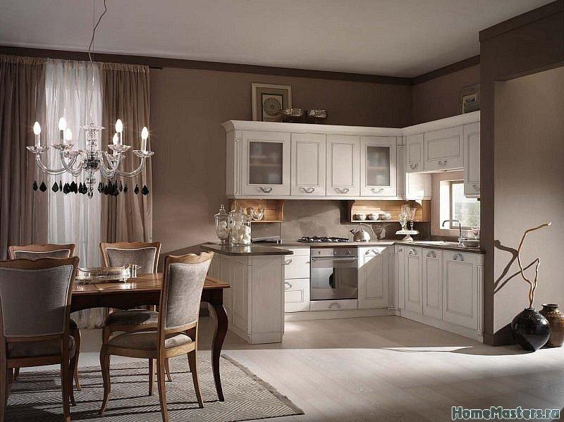 Теплый интерьер кухни