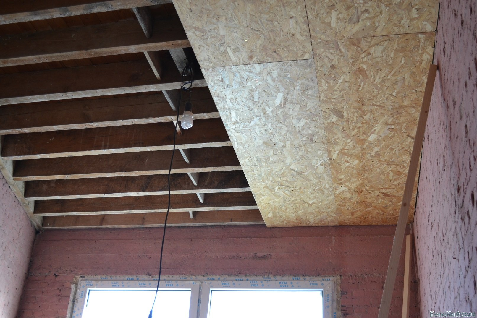 Ремонт в спальне 2. Потолок 005