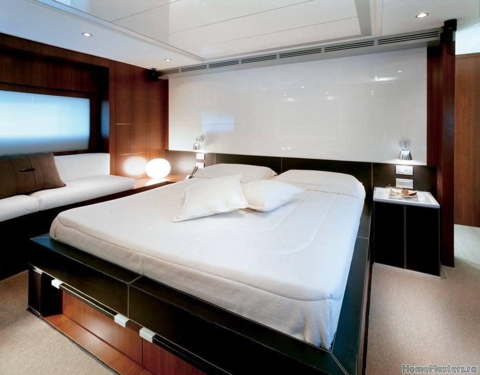 Решение для спальни в контрастных цветах