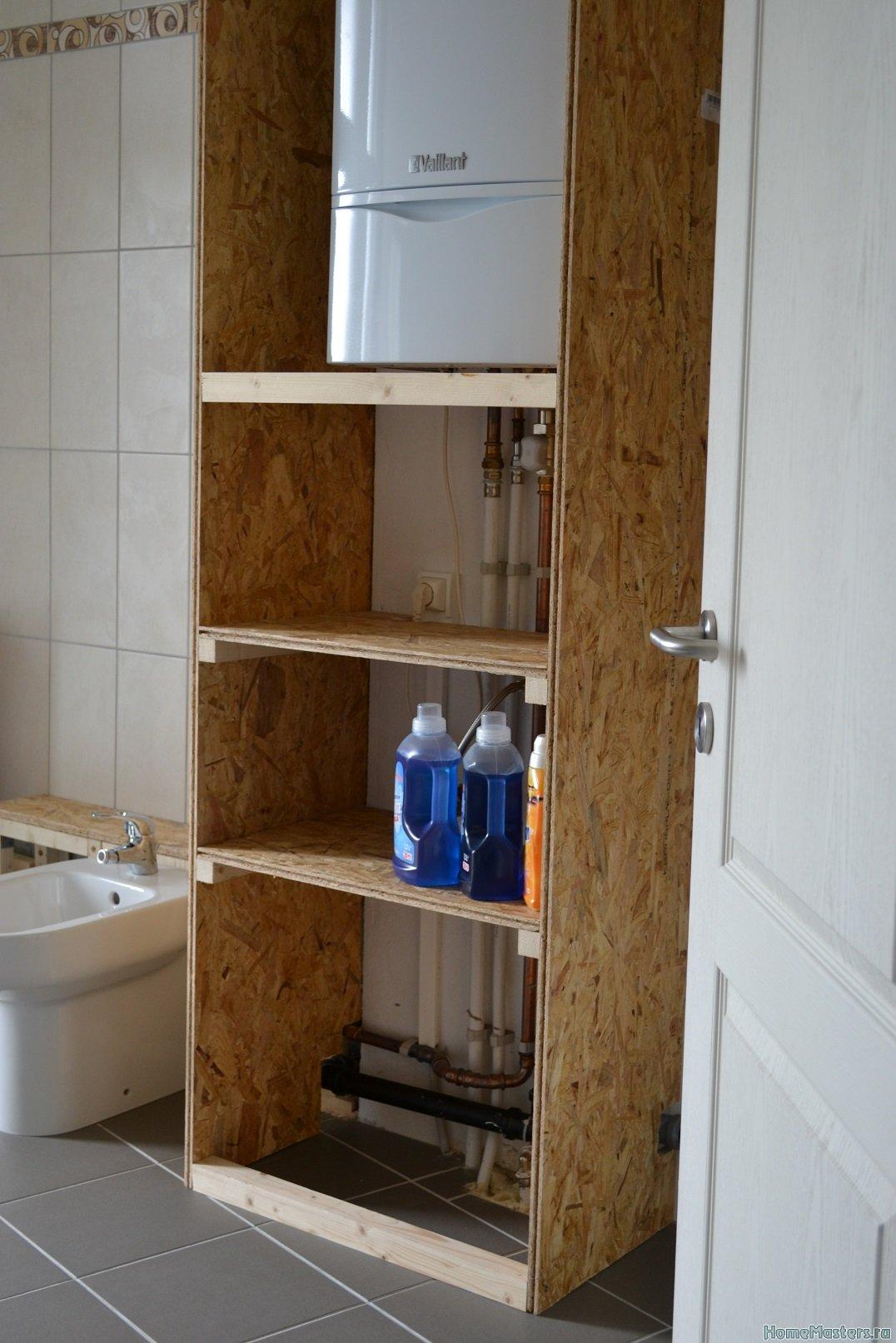 Шкаф в ванной комнате. 001