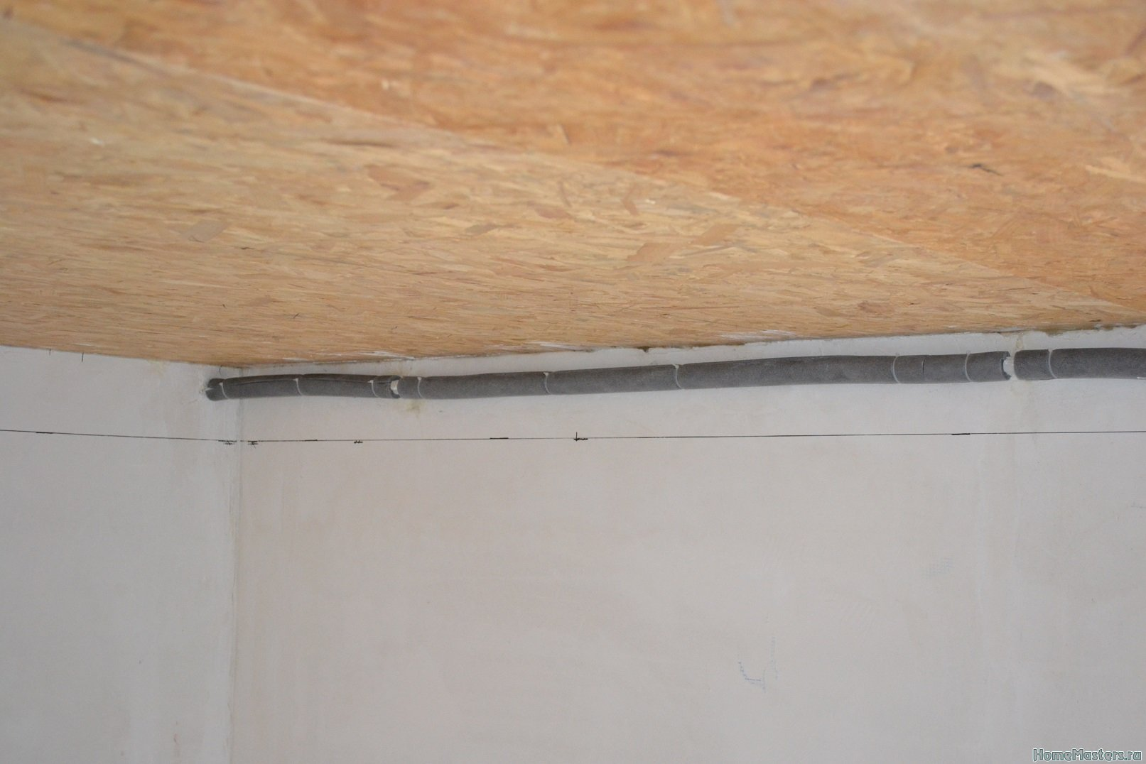 Ремонт спальни 1. Потолок 011