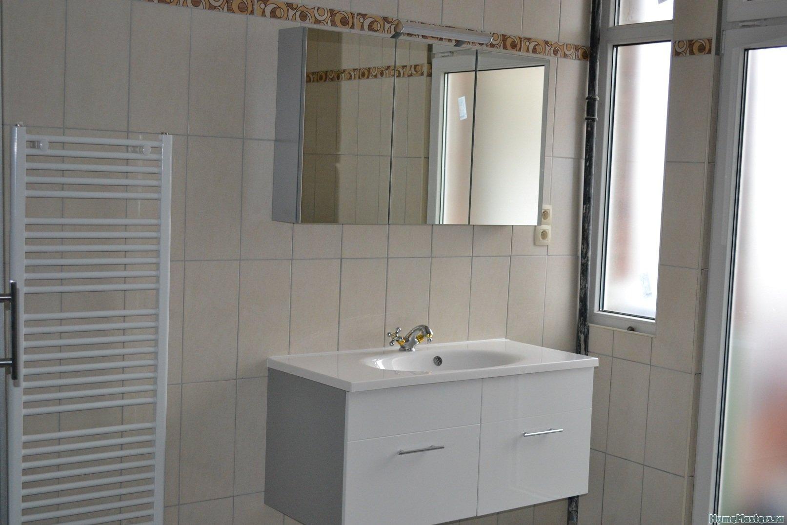 Ремонт ванной комнаты. Стены и пол.