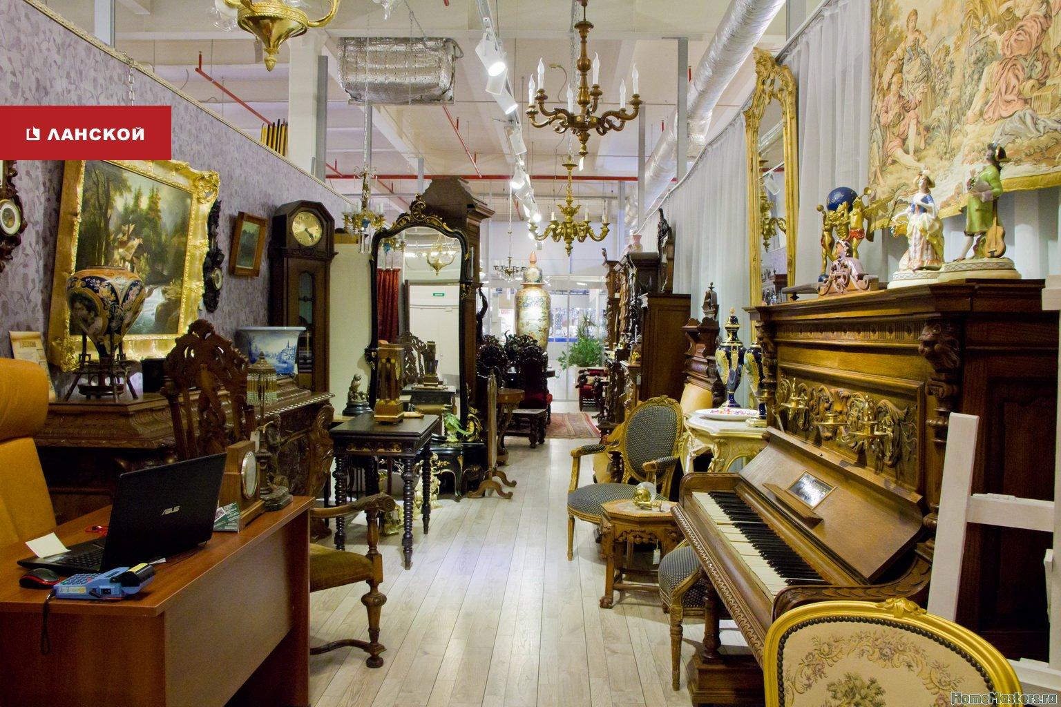 антикварный салон в торговом комплекс интерьерных товаров
