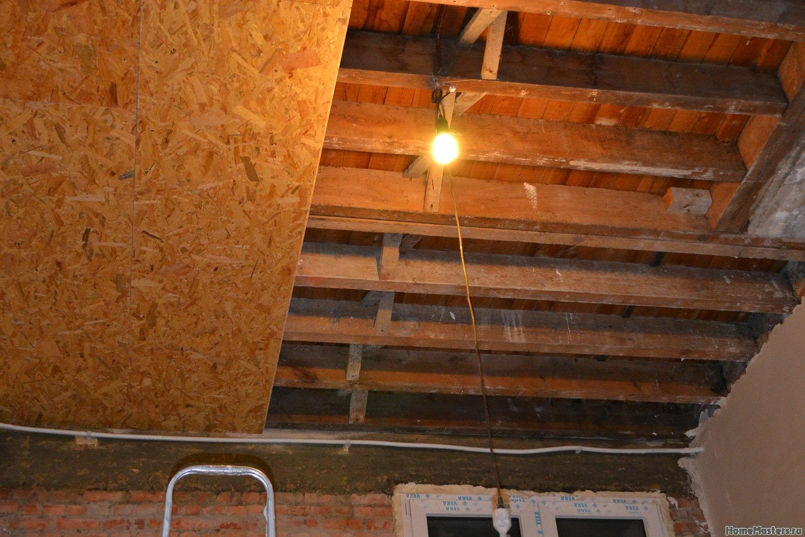 Ремонт спальни 1. Потолок 008