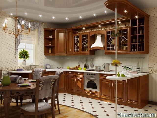 Ремонт кухни в классическом стиле. Полезные рекомендации