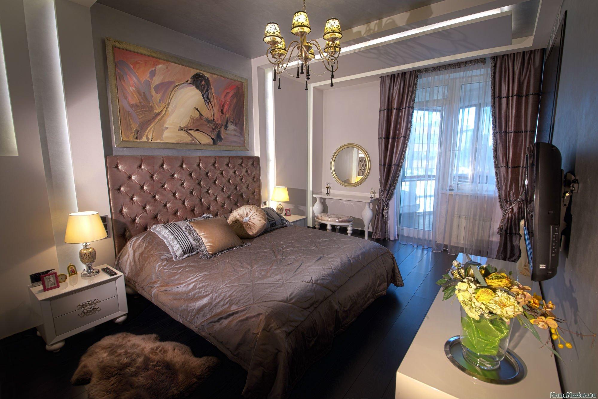Спальня в шоколаде