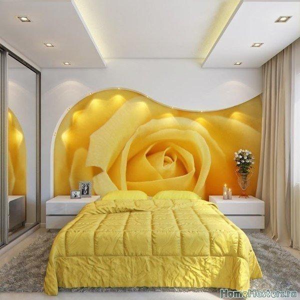 Спальня в желтом