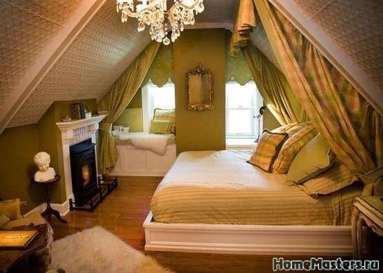 Спальня под крышей