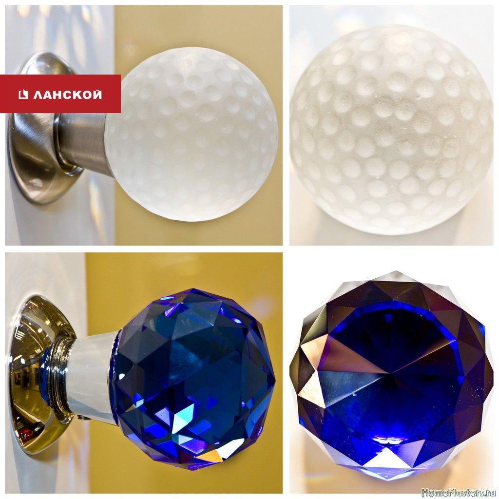 дизайнерские ручки из стекла кристалл оникс