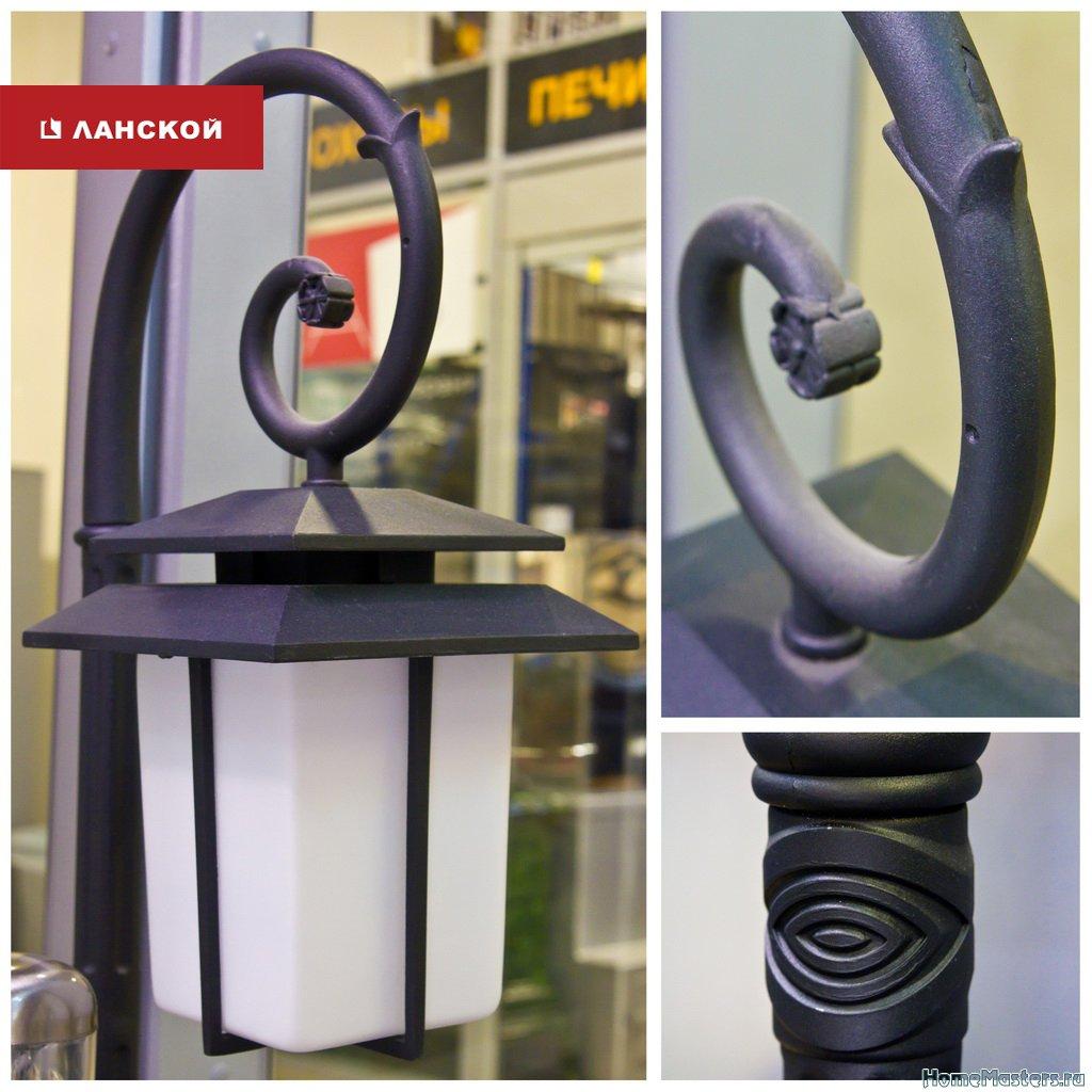 классический светильник-фонарь для подсветки клумб