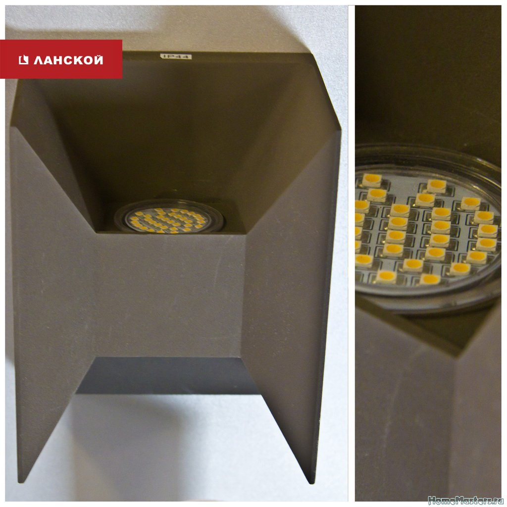 минималистичный светильник для оформления участка
