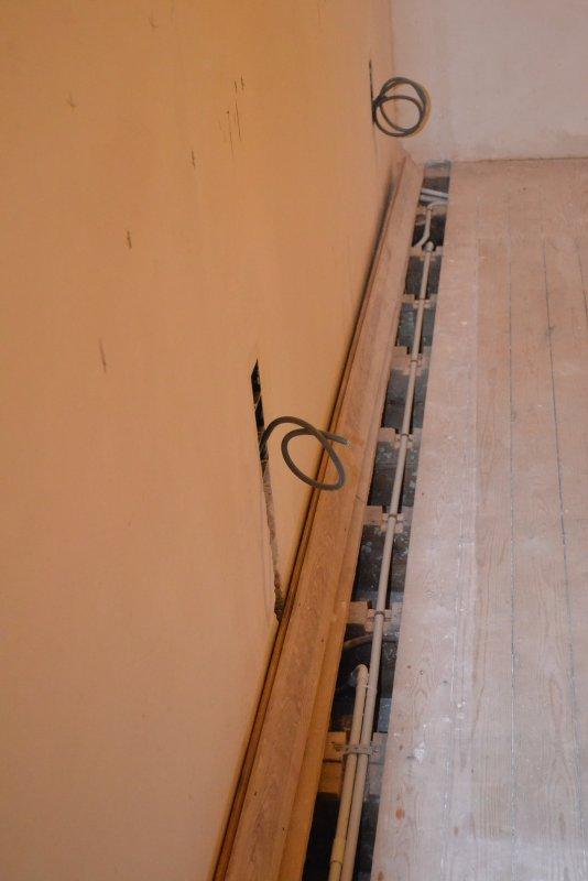 Ремонт спальни  1. Стены, пол, электрика. 038