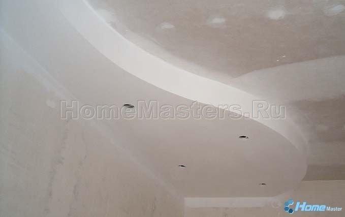 0018 зашпаклеванный потолок