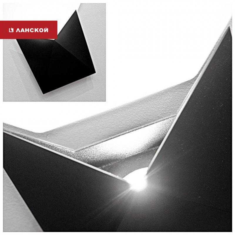 черный светильник в минималистичном стиле, тк ланской