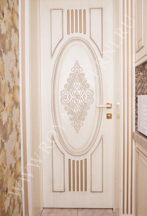 Белая межкомнатная дверь Эльвира декор золото от Роял Интерни