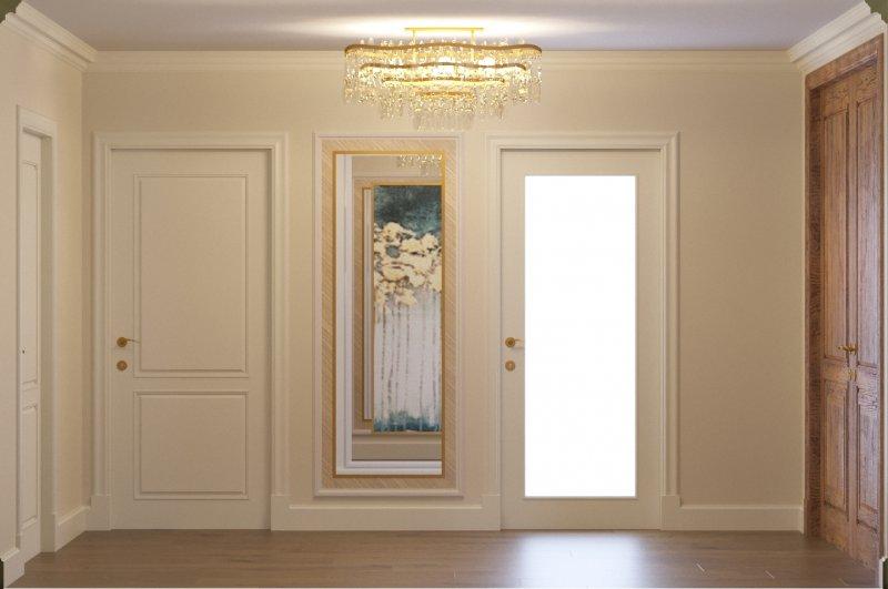 Фото прихожей с белыми дверями