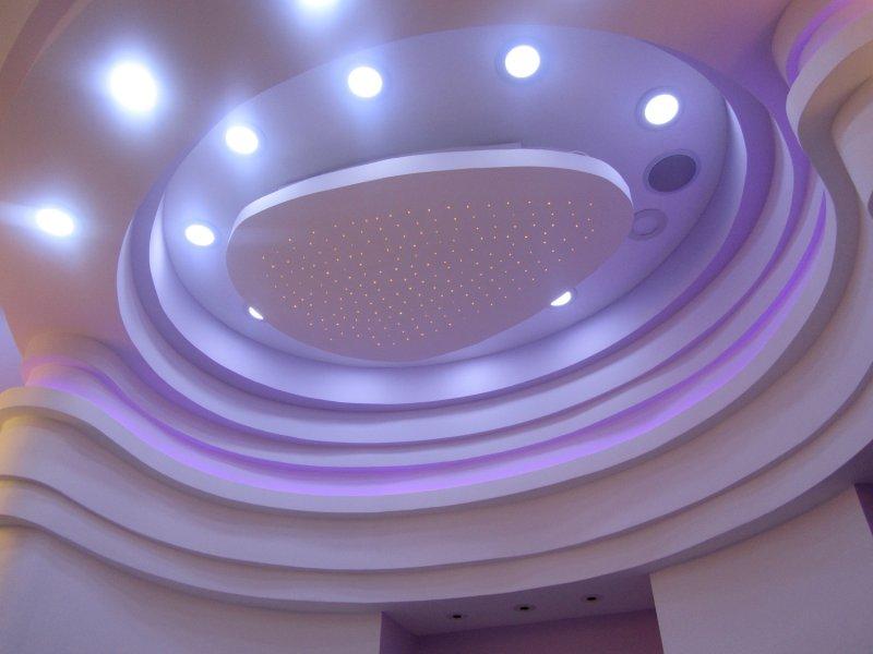 Потолок фигурный из гипсокартона