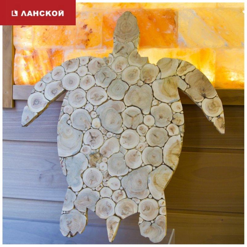 можжевелое панно для декора сауны или бани в ТК Ланской