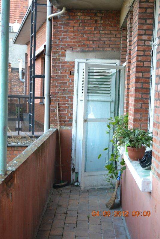 Ремонт балкона. Пол и стены. 038