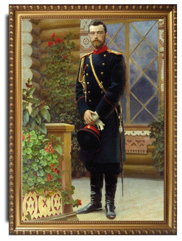 Repin Portret imperatora Nikolaja II