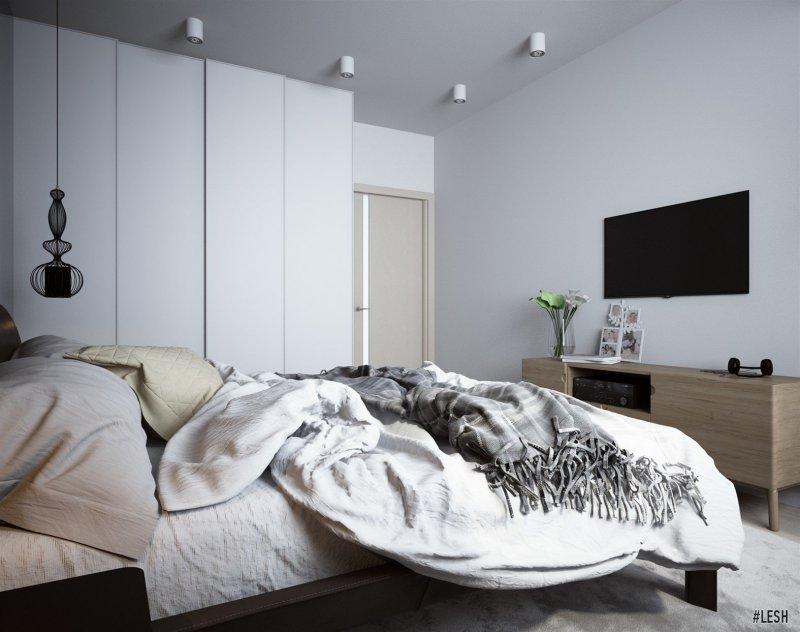 Светлый интерьер спальни | Tribuca 100 м.