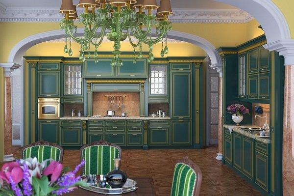 Виктарианский дизайн кухни