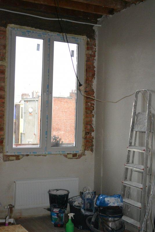 Ремонт спальни  1. Стены, пол, электрика. 023