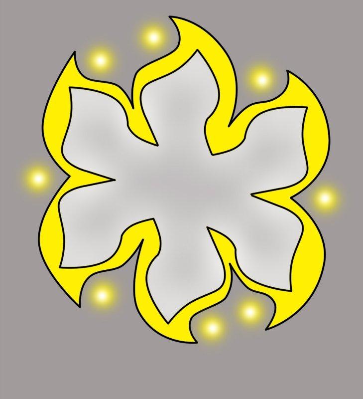 Макет цветка на потолке