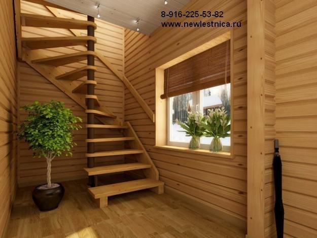 Лестница с композитной балкой