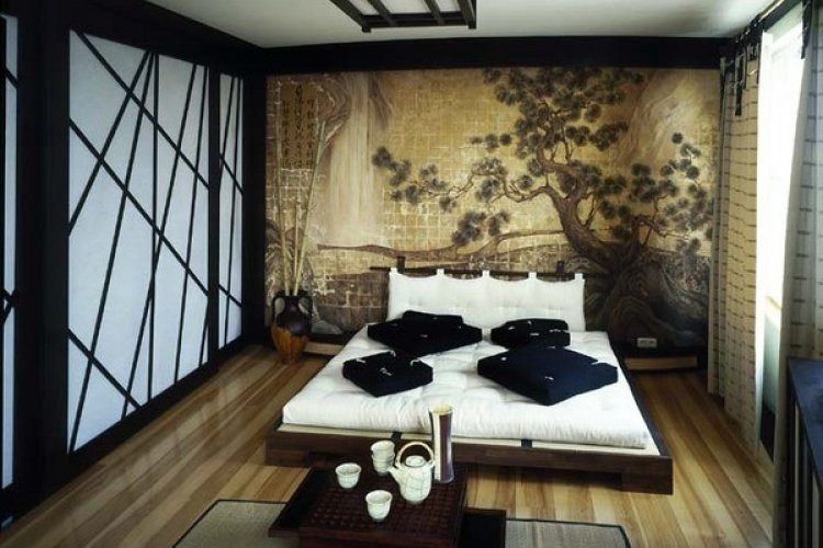 Спальня в восточном дизайне