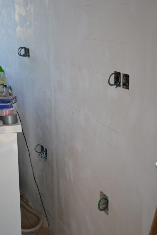 Ремонт кухни. Стены, пол, электрика. 041