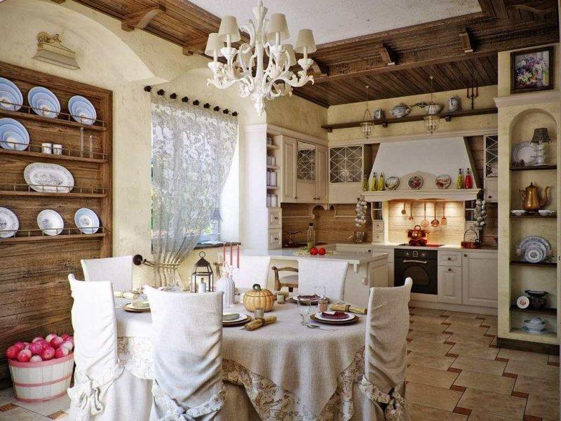 кухня загородном доме