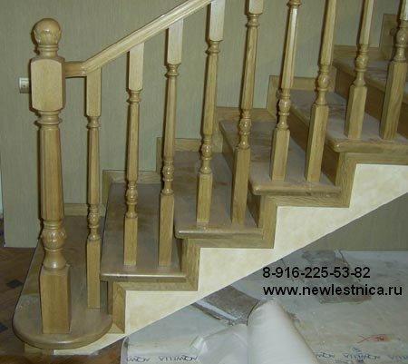 Отделка лестниц деревом 3