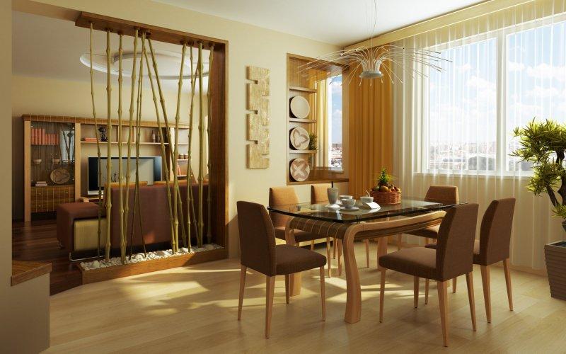 Столовая с бамбуком