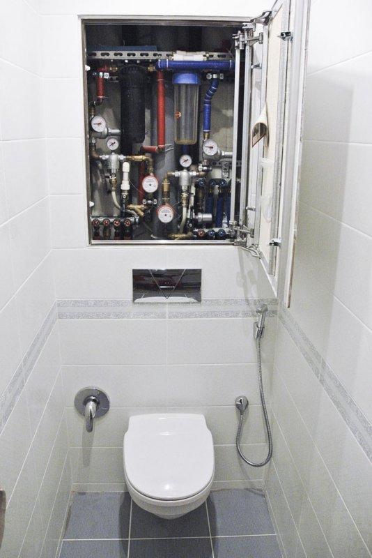 установка чистовой сантехники