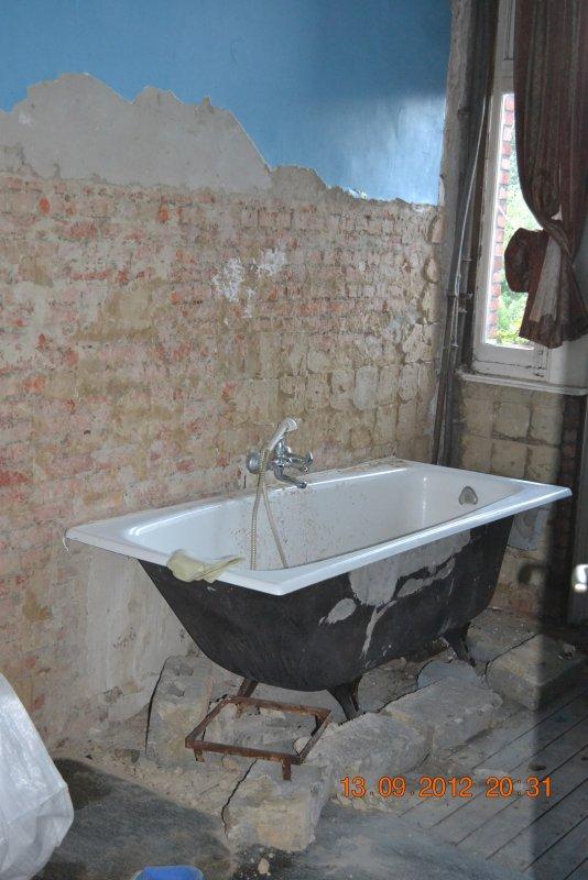Ремонт ванной комнаты. Пол и стены. 004