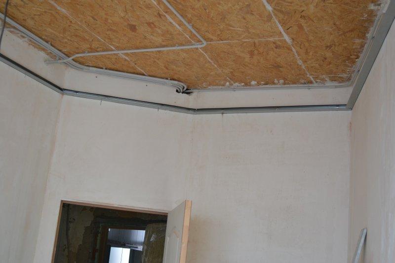 Ремонт в спальне 2. Потолок 012
