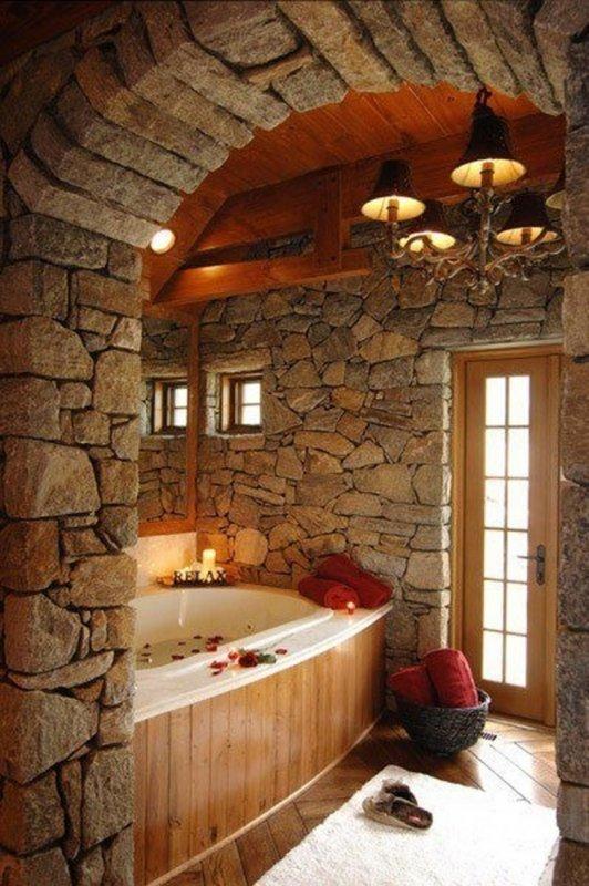 «Замковая» ванная комната