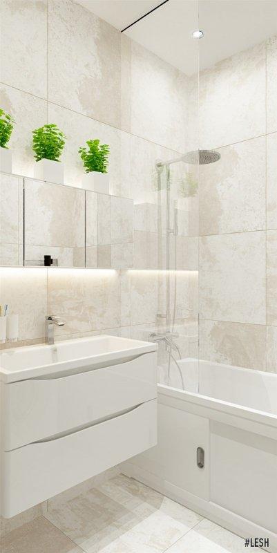 Современная ванная комната | Butlerova - 69м.