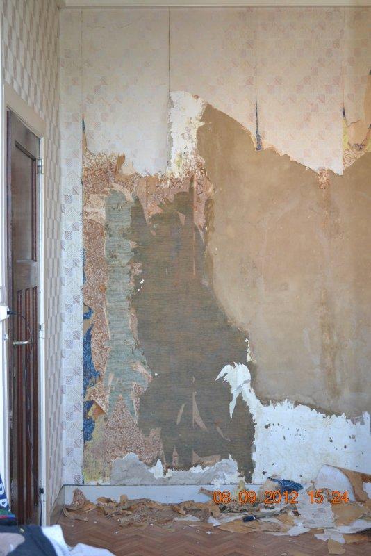 Ремонт спальни  1. Стены, пол, электрика. 008
