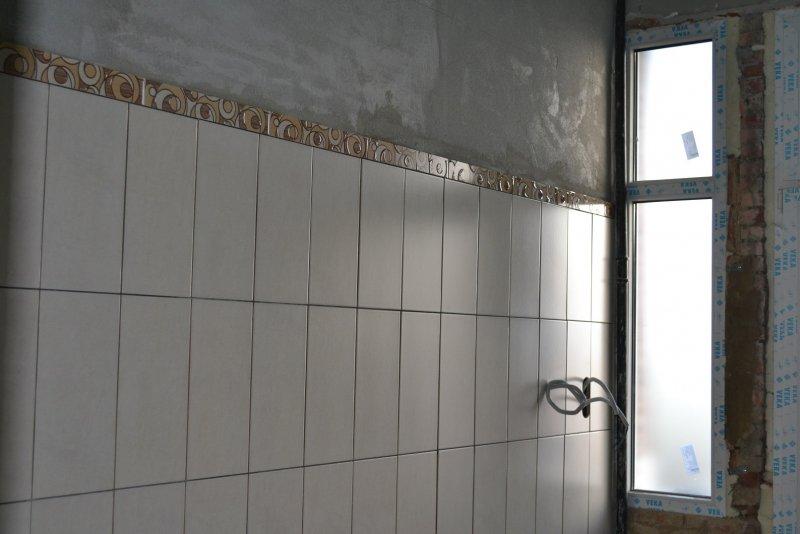 Ремонт ванной комнаты. Пол и стены. 023